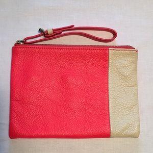 GAP soft leather wristlet purse